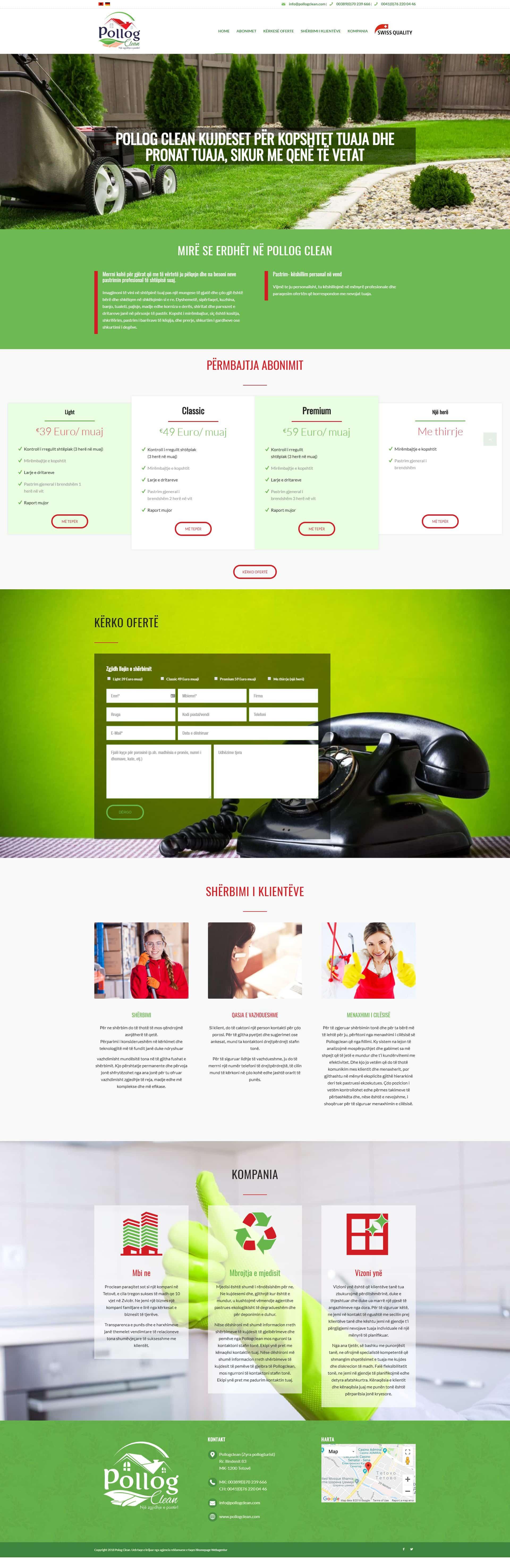 Website Projekt Reinigungsservice