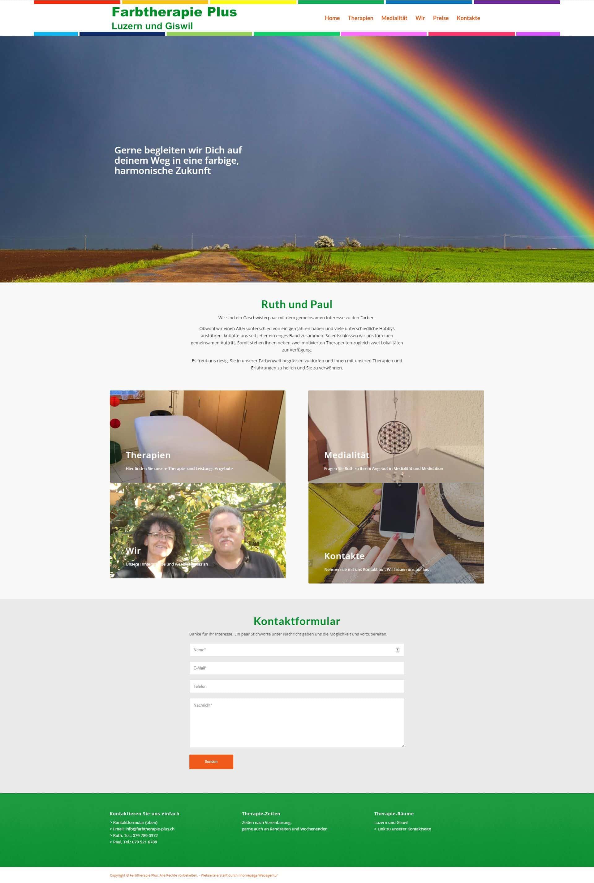 Homepage Portfolio Farbtherapeuten