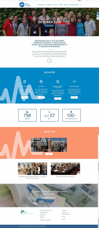 Homepage Portfolio Verband der Pflegestudierenden