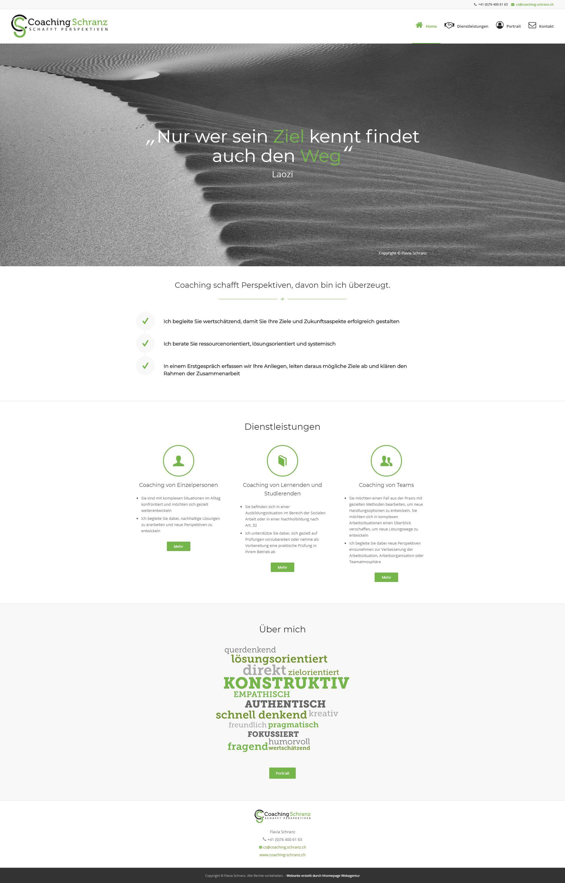 Homepage Projekt Lebenscoaching