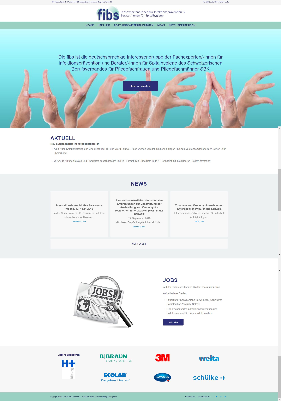 Homepage Projekt Hygiene