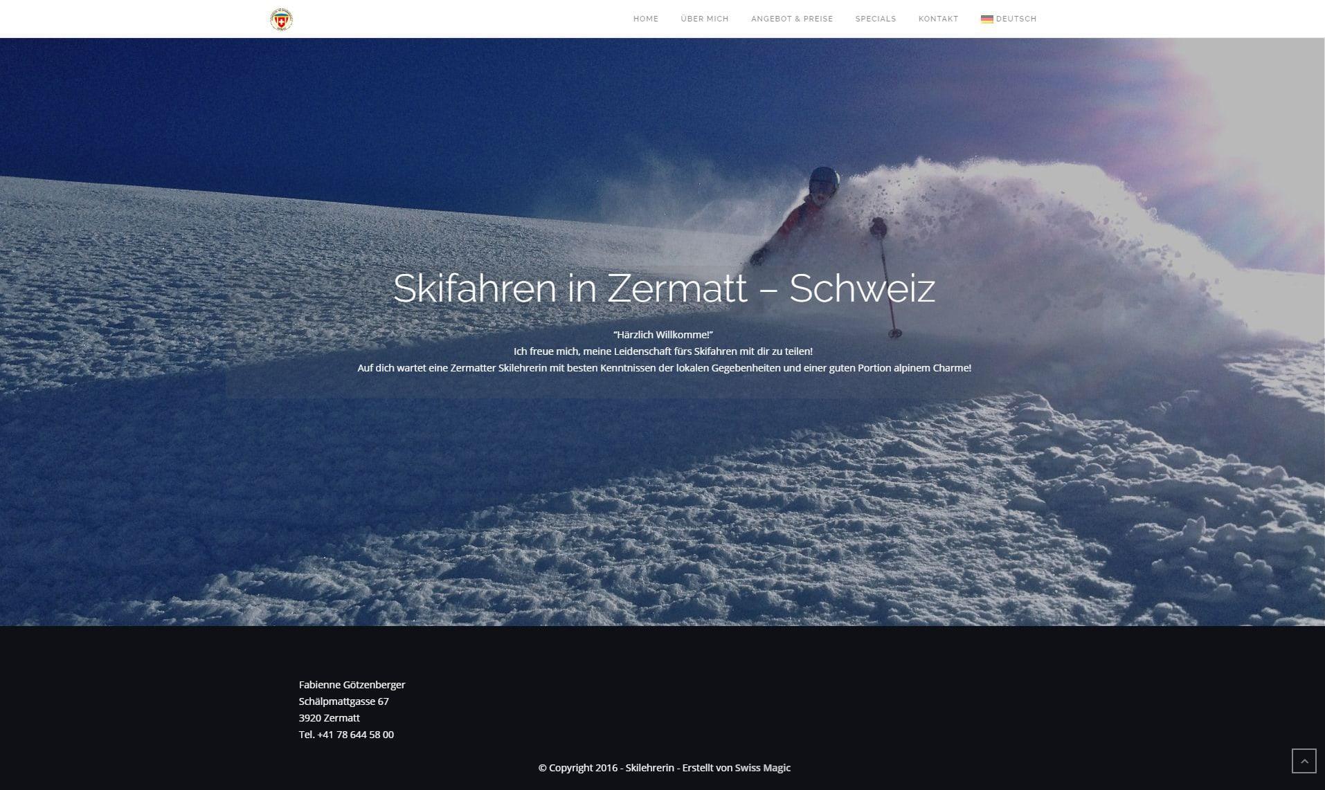 Webseite Referenz Skilehrerin small