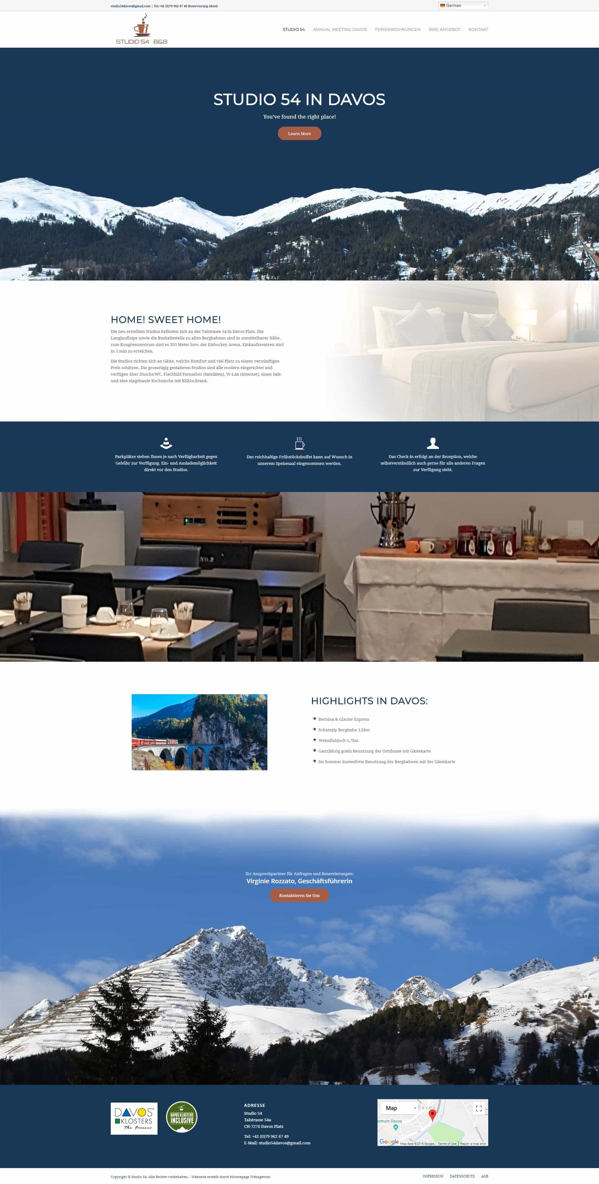 Webseite Portfolio Ferienwohnungen