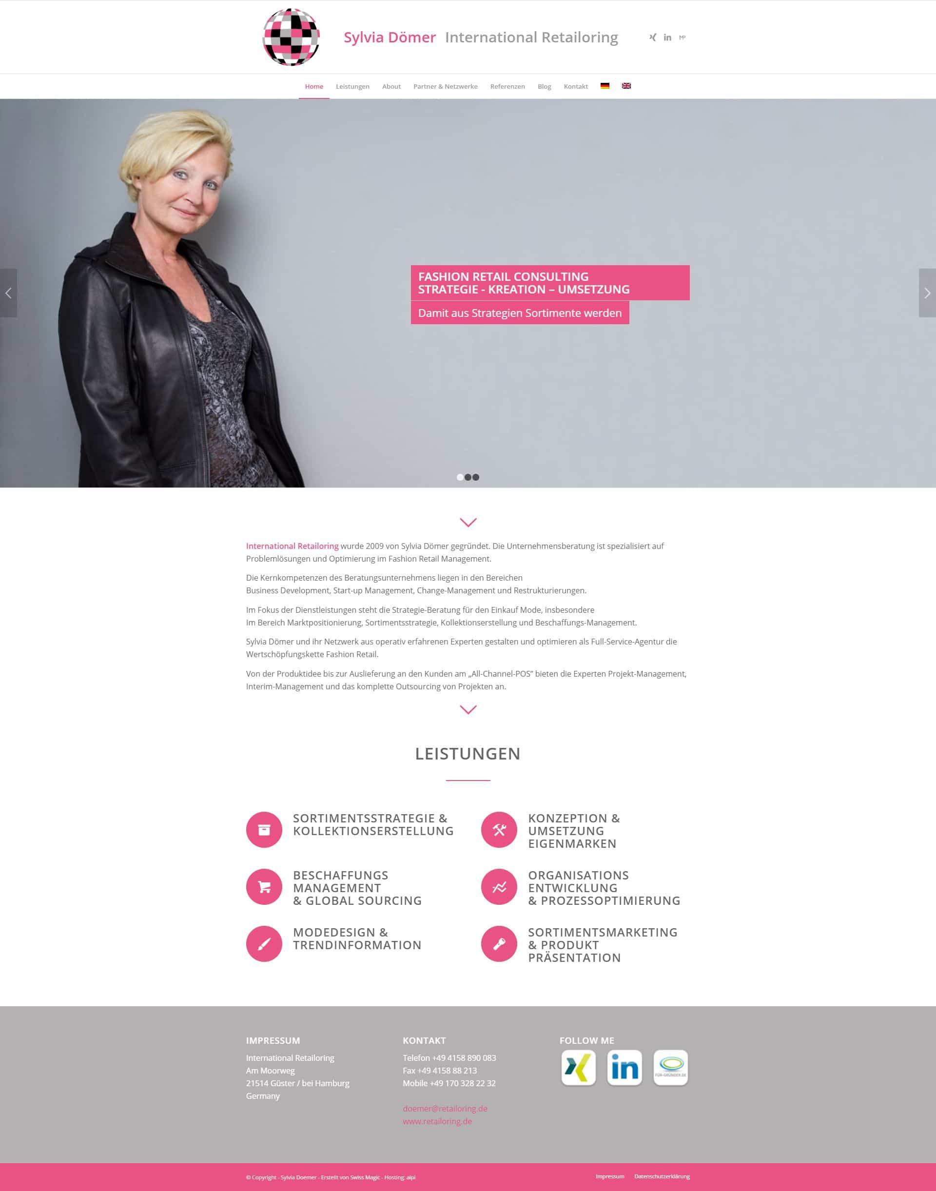 Website Referenz Retailoring