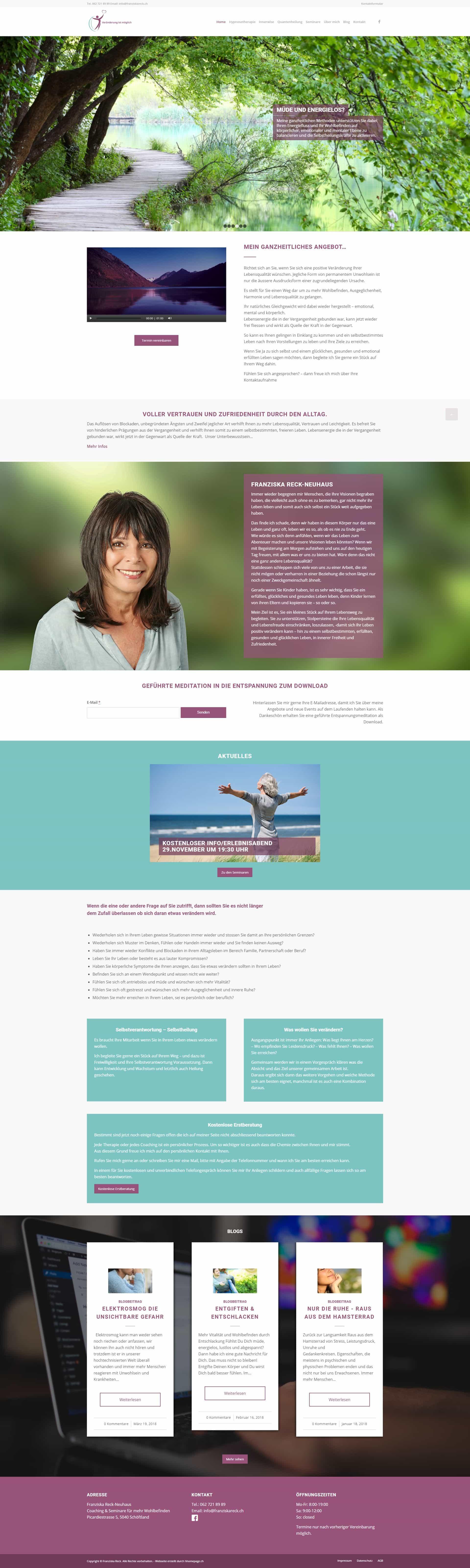 Webseite Projekt Quantenheilung