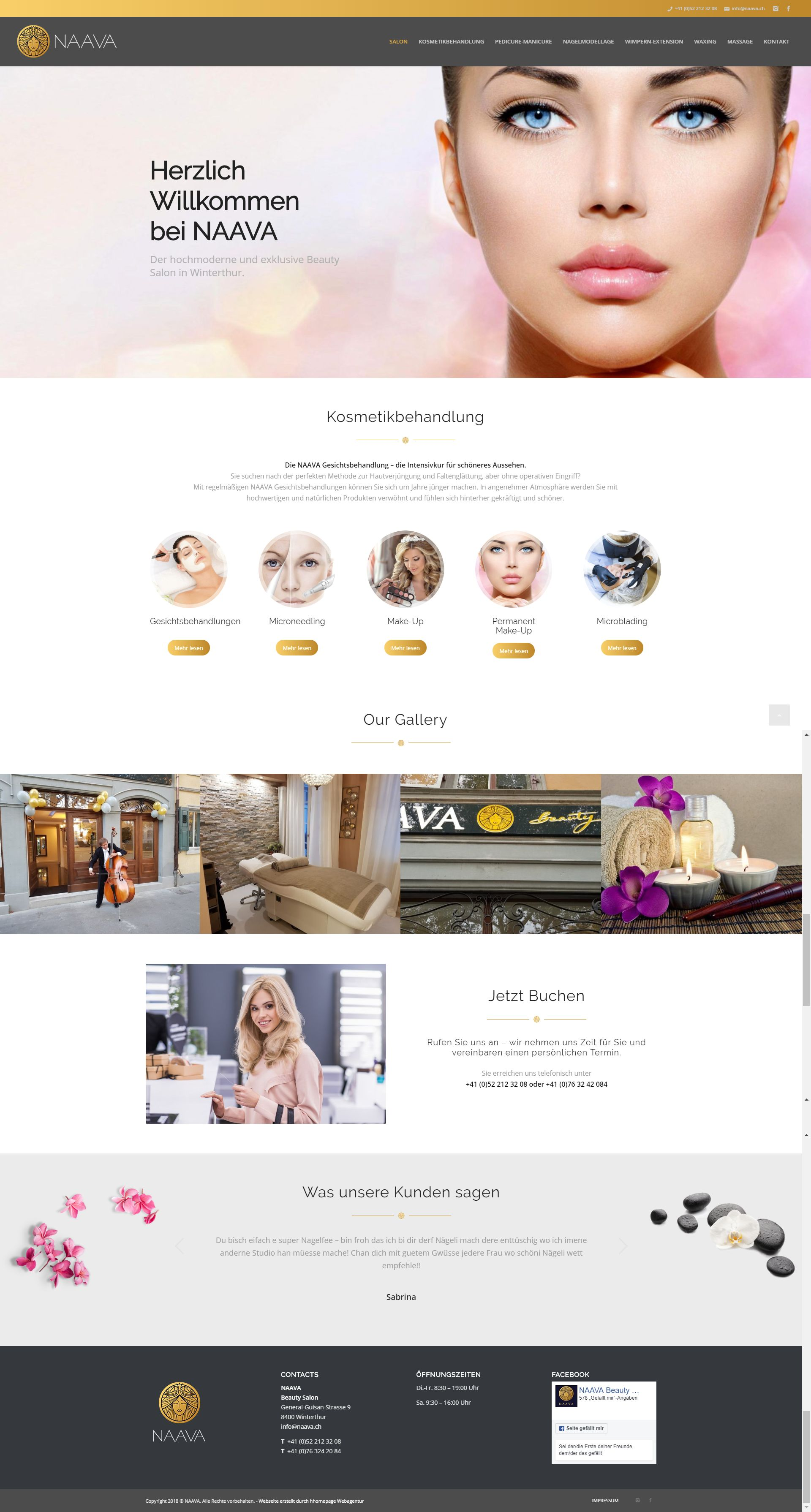 Homepage Projekt Beauty Salon