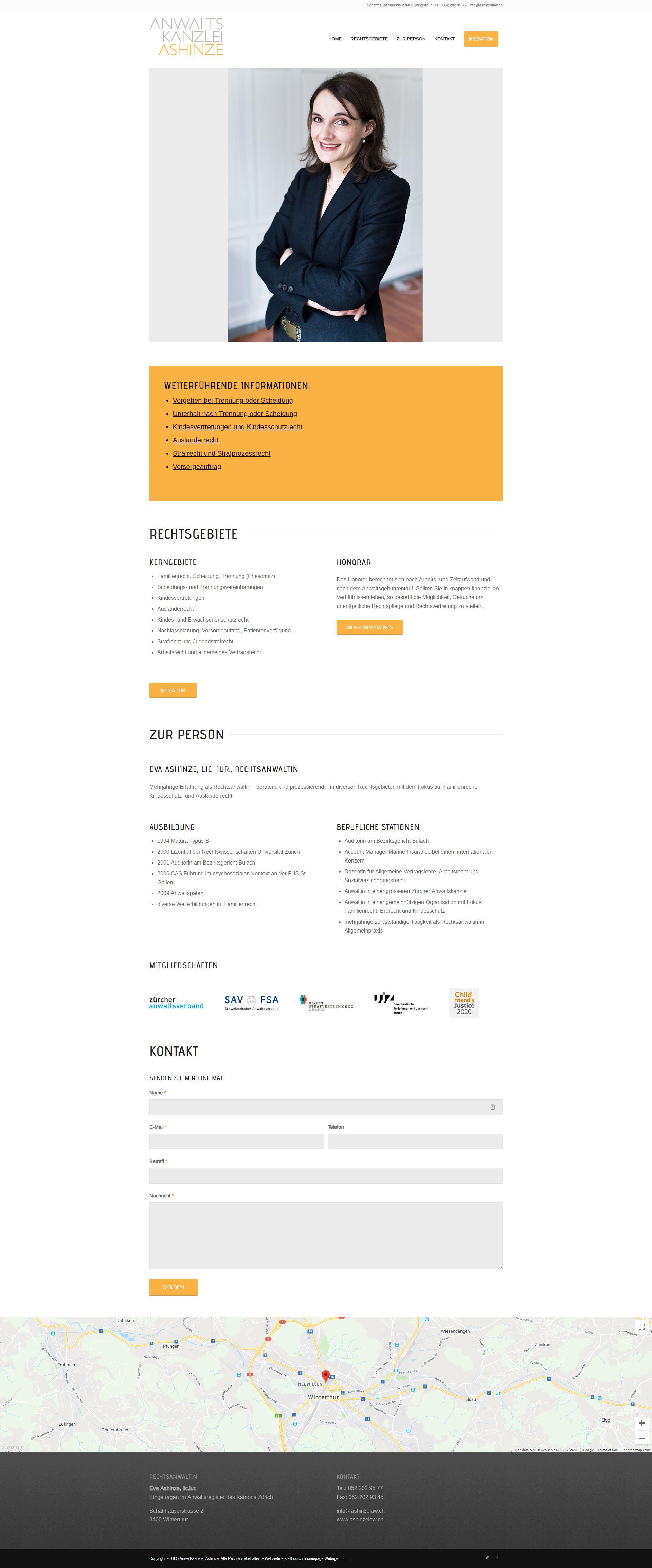 Website Projekt Rechtsanwältin