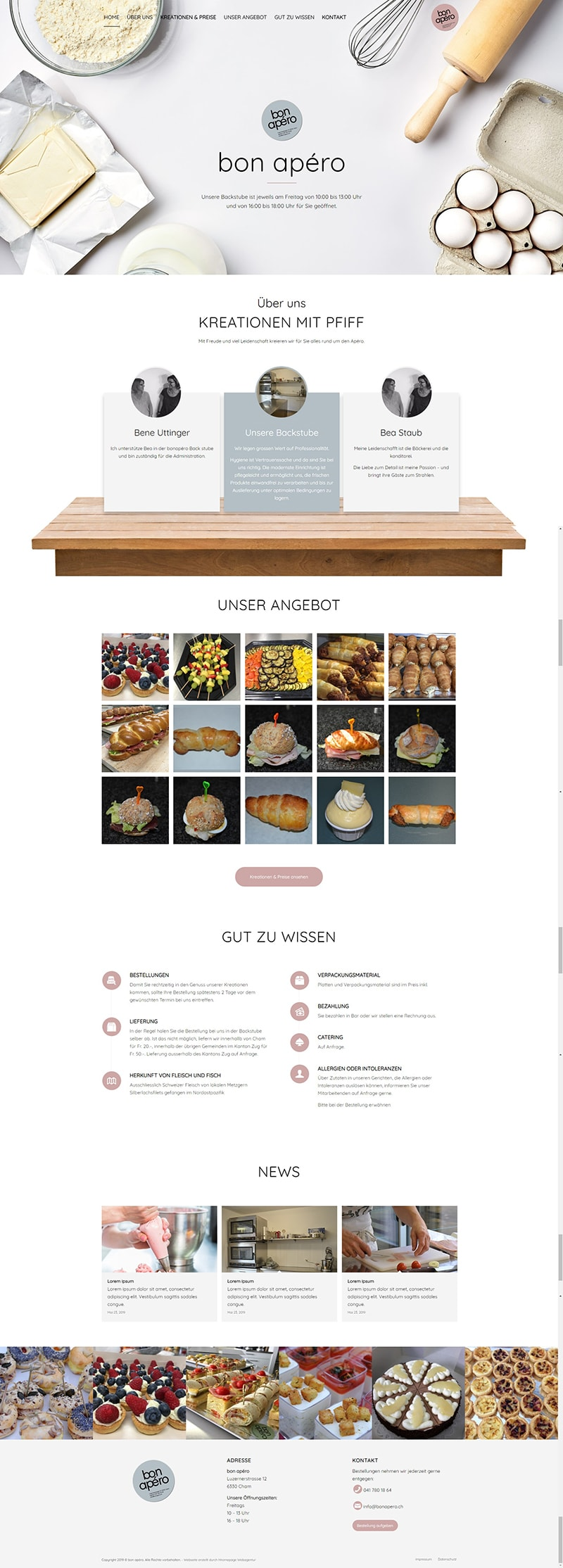 Webseite Portfolio Backstube