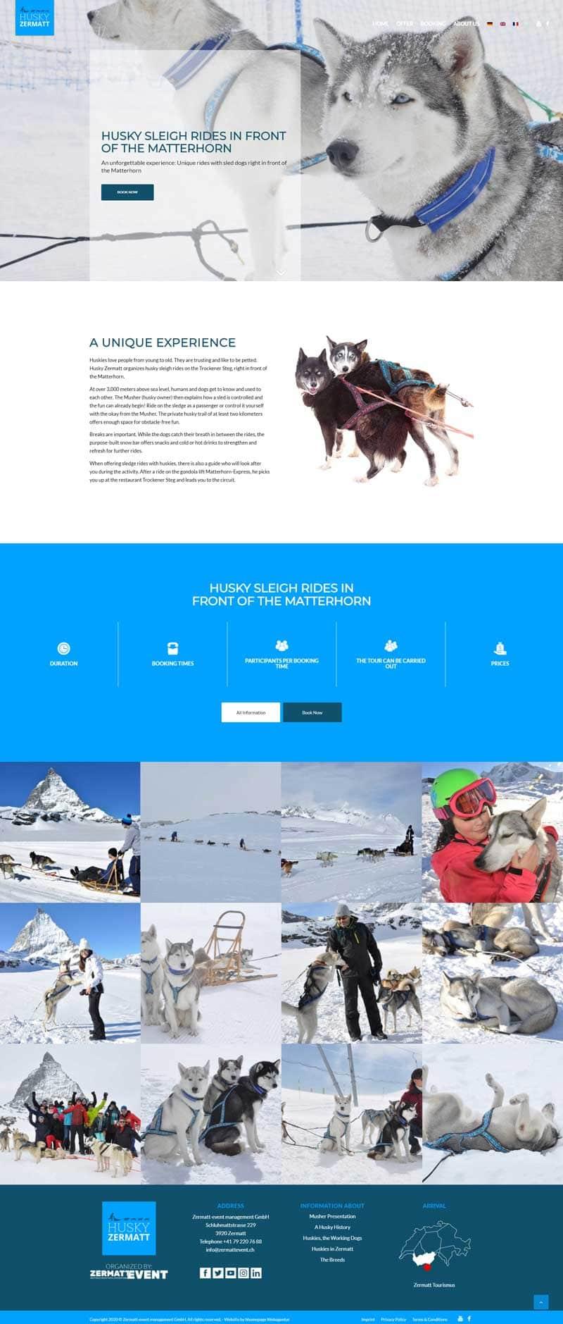 Webseite Webseiten-Projekt Eventveranstalter