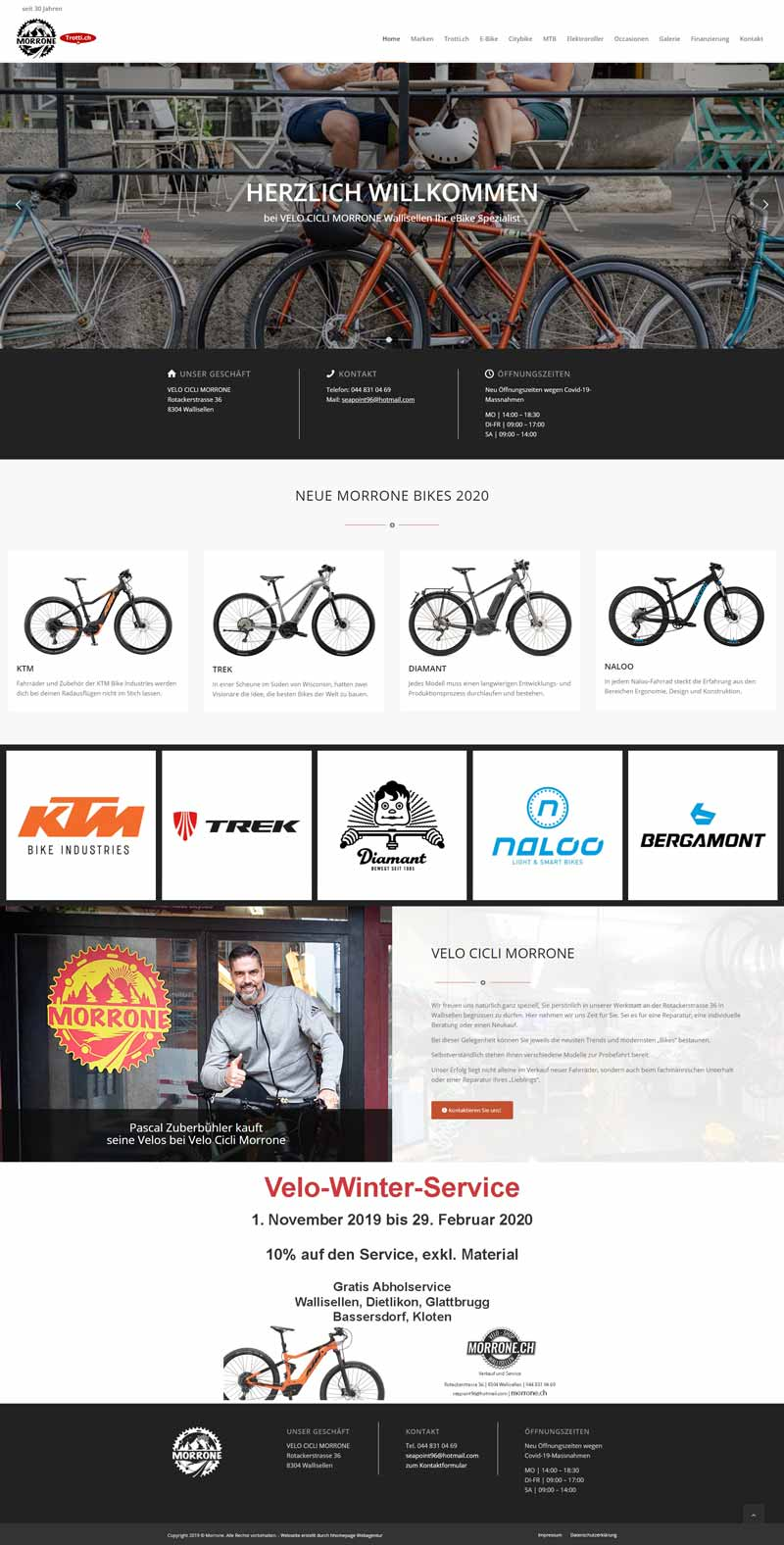 Homepage Referenz Fahrradhandel