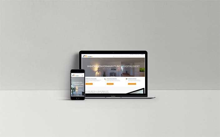 Webseiten-Projekt Immobilienvermarktung