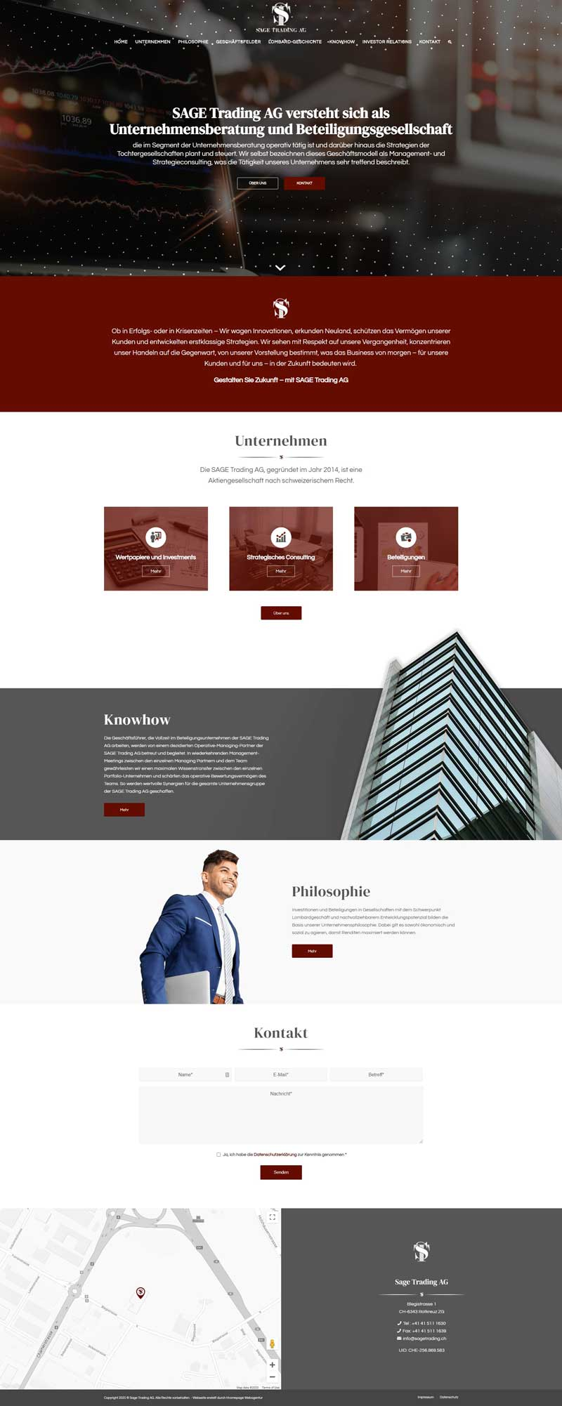 Webseiten-Projekt Beteiligungsgesellschaft