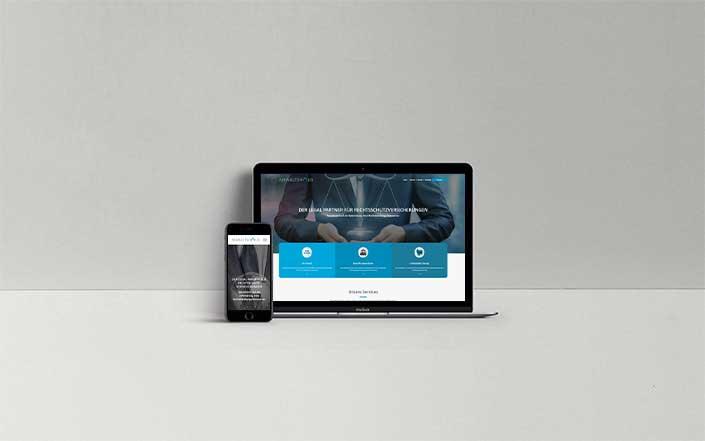 Webseiten-Projekt Anwaltshaus